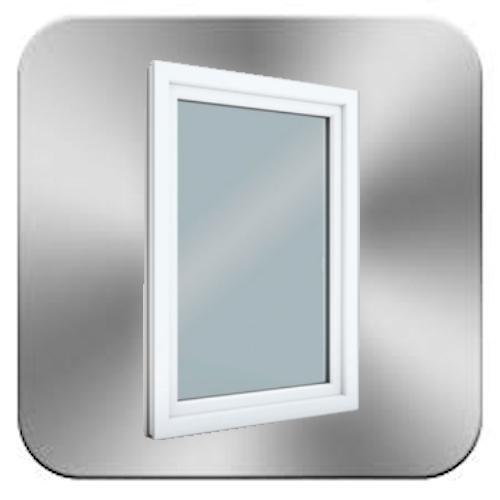 Button-Kunststofffenster