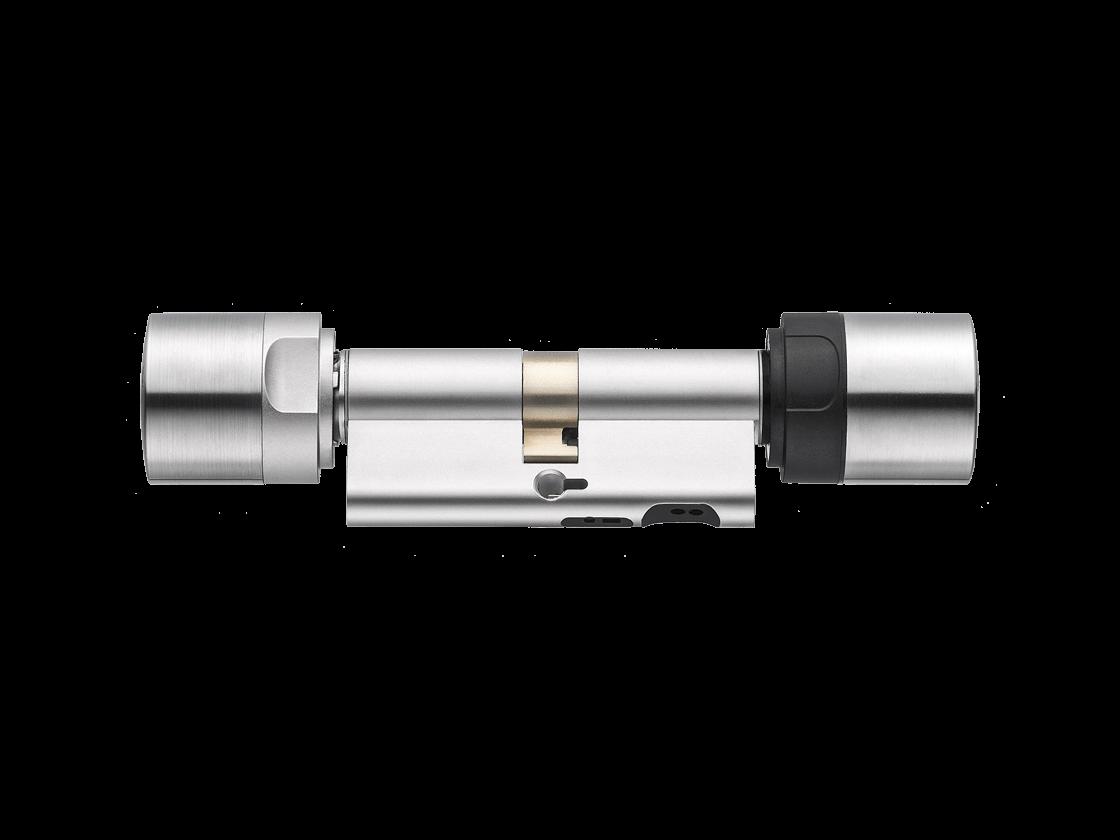 mobilekey-schliesskomponenten-digitale-schließzylinder-doppelknauf-doormonitoring-europrofil-edelstahl